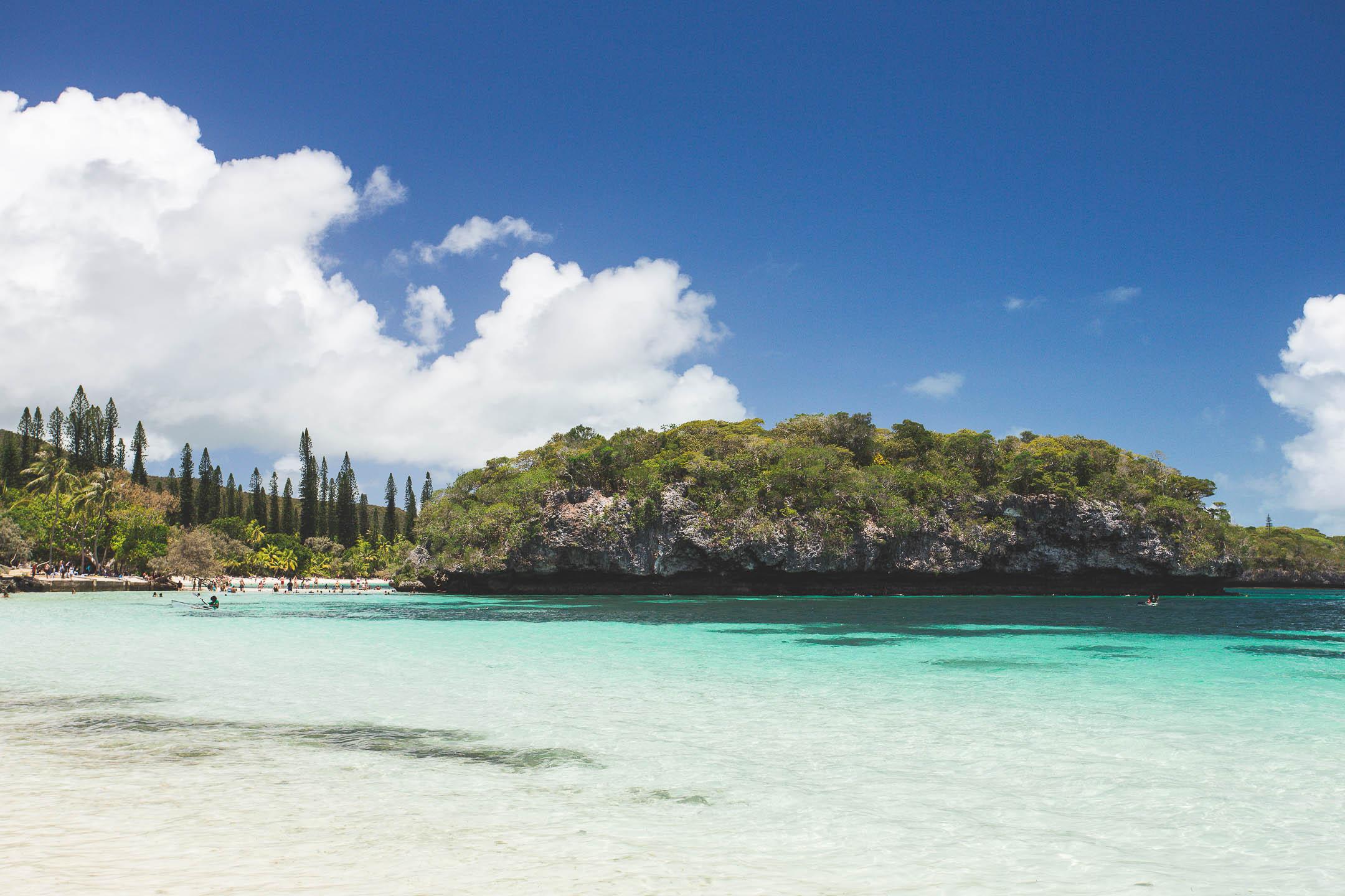 La baie de Kanumera de l'île des Pins