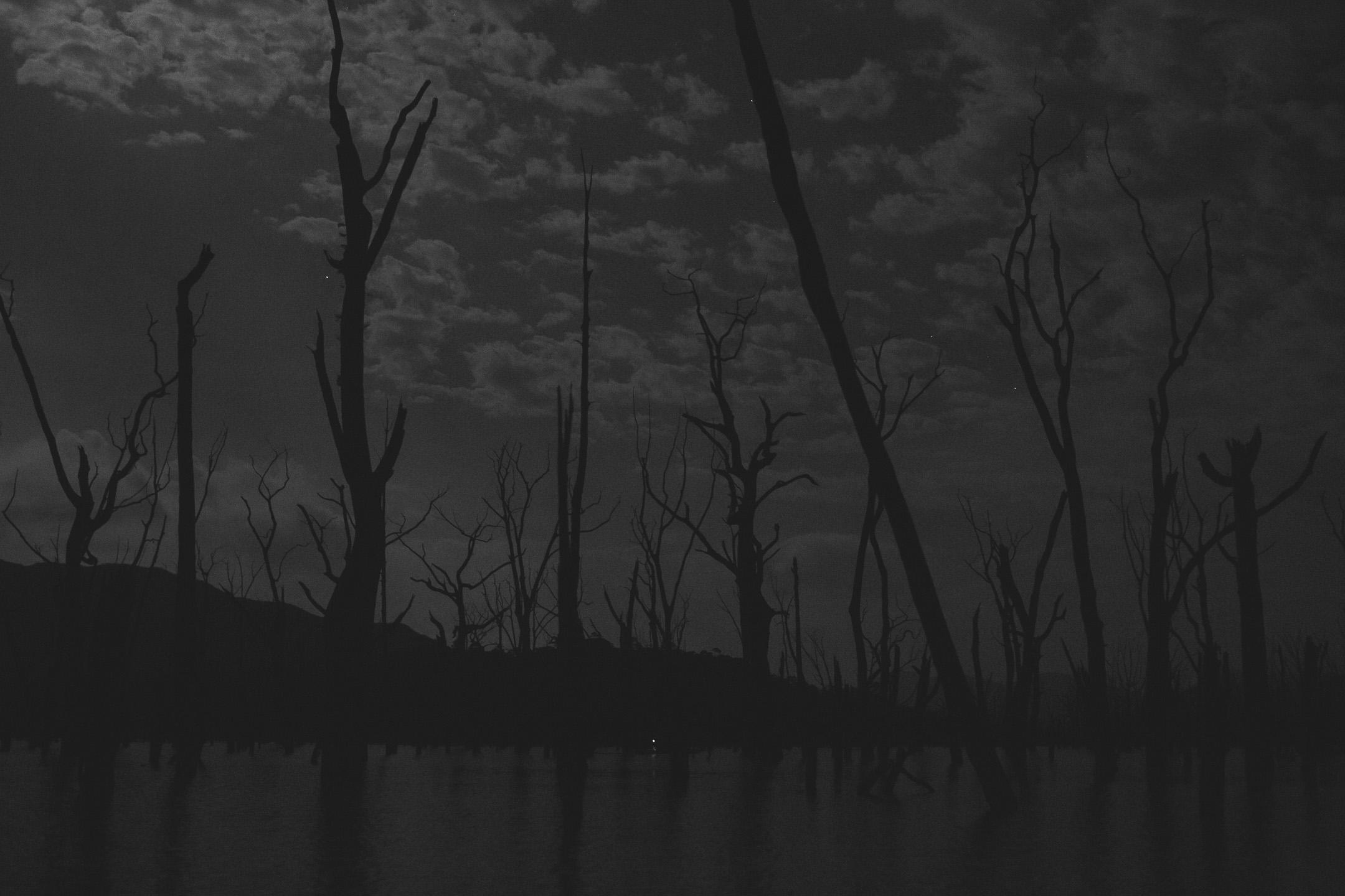 kayak de nuit lac de yate parc de la rivière bleue