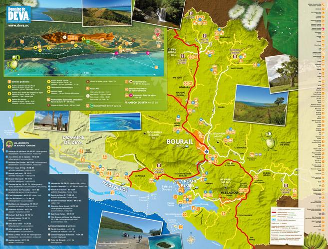 carte touristique de bourail nouvelle calédonie