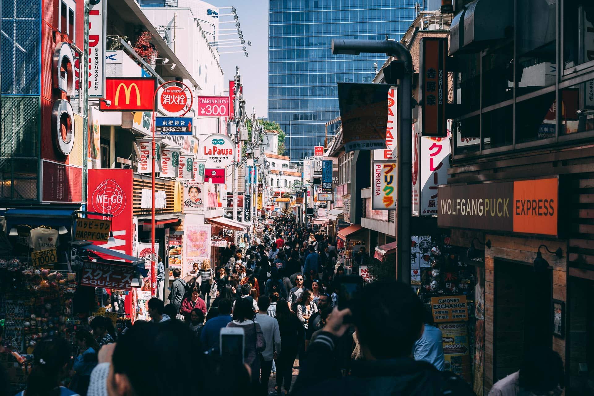 Takeshita-street, la folle rue d'Harajuku à Tokyo