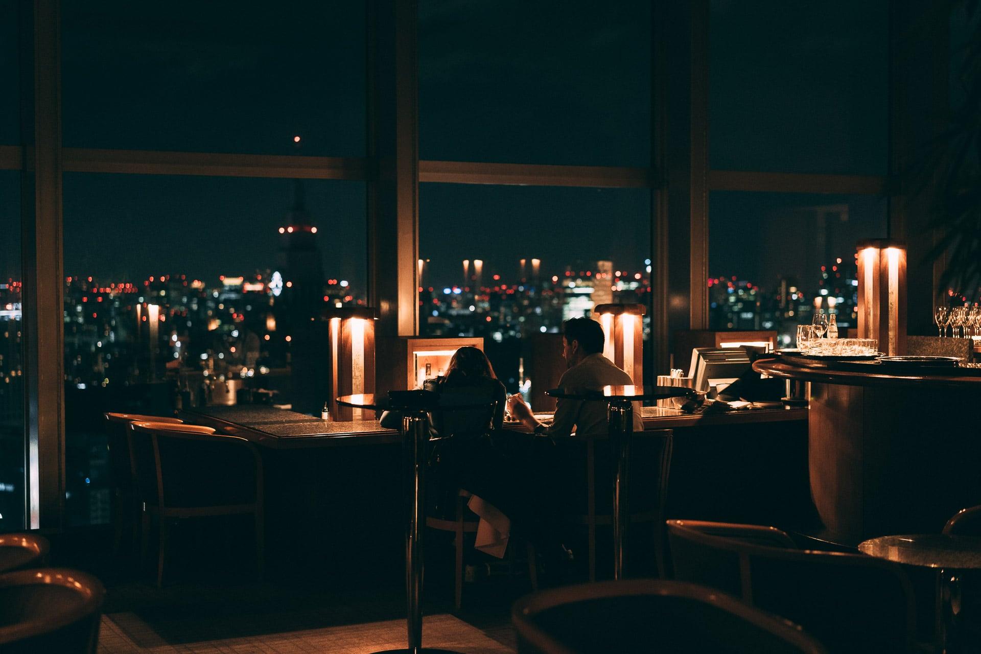 Boire un verre au bar du Park Hyatt de Tokyo